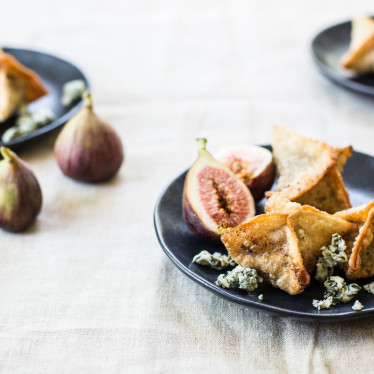Buttermilk Blue, Fig and Port Wontons
