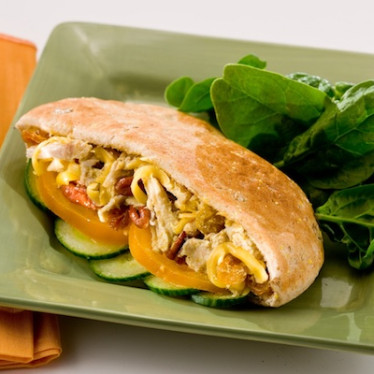 Curried Chicken Salad Pita