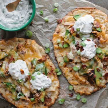 Easy Chicken Avocado Flatbread