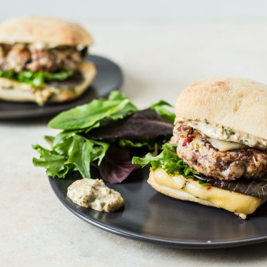 Green Chile Chicken Burgers