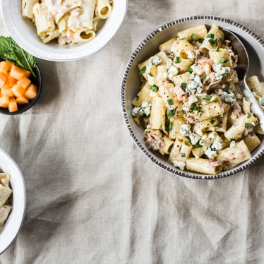 Jasper's Rigatoni Pasta with Buttermilk Blue