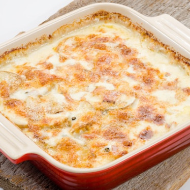 Spicy Gouda Scalloped Potatoes