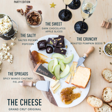Elements of a cheese board
