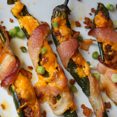 Bacon-Wrapped Spicy Stuffed Peppers