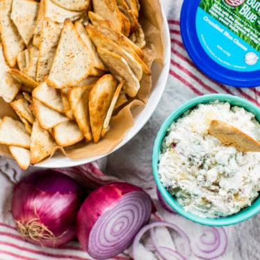 Pear Blue Cheese Onion Dip