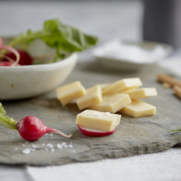 Dill Havarti and radish bites
