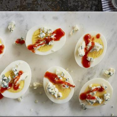 Buffalo blue deviled eggs