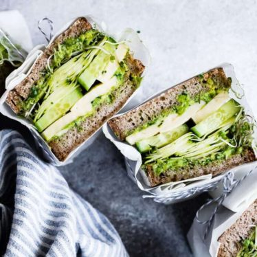 Avocado Green Goddess Sandwiches