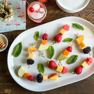 Cheese & Fruit Skewers