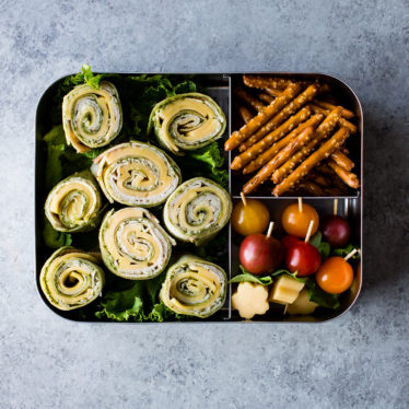 Pesto Gouda Turkey Pinwheel Wraps