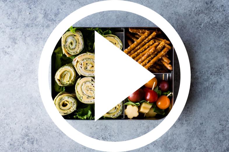 Pesto Gouda Turkey Pinwheel Wrap Lunch Box