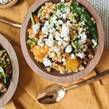 Harvest Couscous Salad with Buttermilk Blue