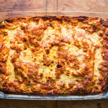 Lasagna with Turkey Sausage, Gouda and Havarti