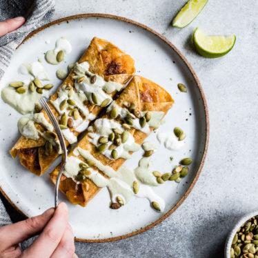 Cheesy Pumpkin Taquitos