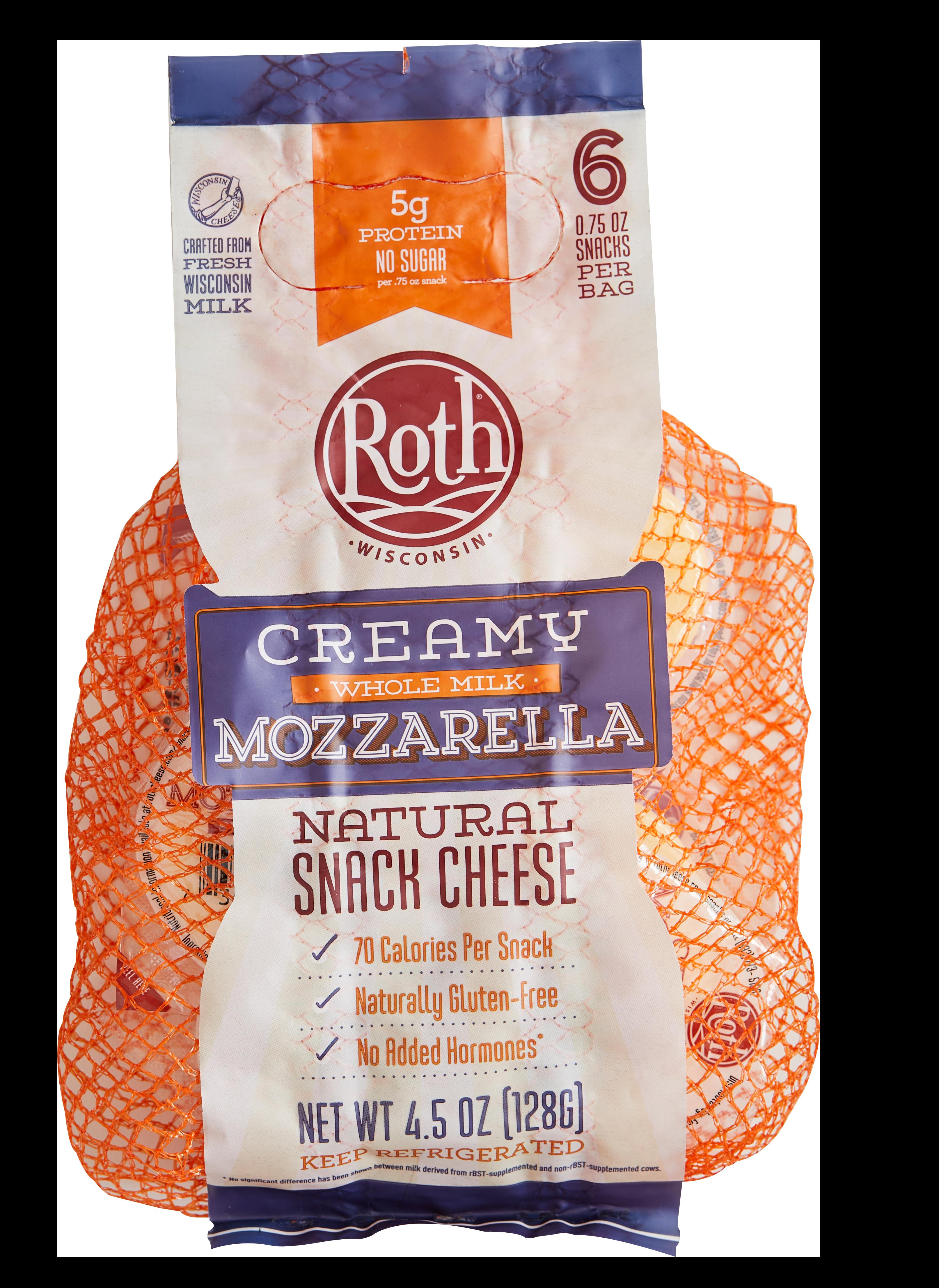 Creamy Mozzarella Snack Cheese