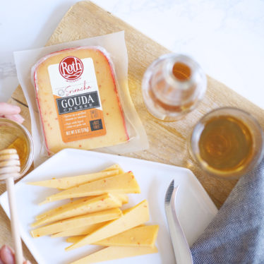 Roth Sriracha Gouda cheese with honey