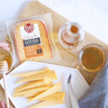 Roth Sriracha Gouda cheese with honey