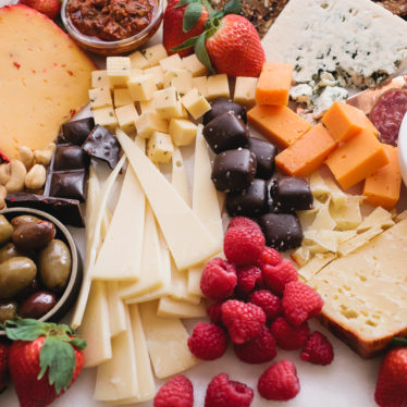 Valentines Day cheese board