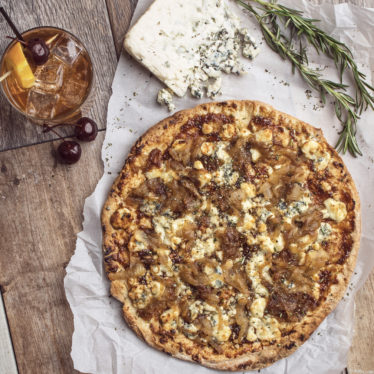 Gin-Spiked Buttermilk Blue Flatbread