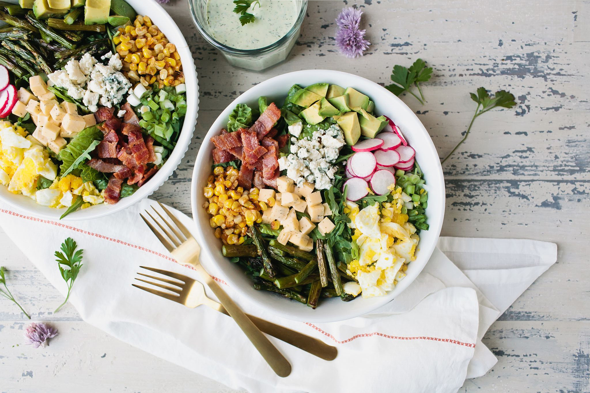 Summer Cobb Salad serving