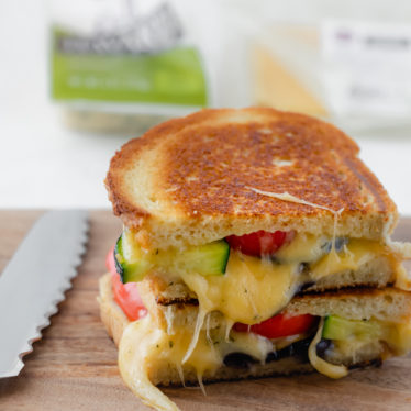 Roasted Vegetable Grilled Cheese Sandwhich