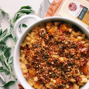 Butternut Squash Mac n' Cheese with Bacon