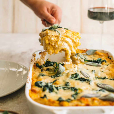 Butternut Squash & Spinach White Lasagna