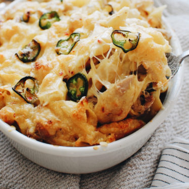Jalapeño Havarti Chicken Mac and Cheese