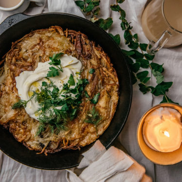 Crispy, Cheesy Potato Pancake