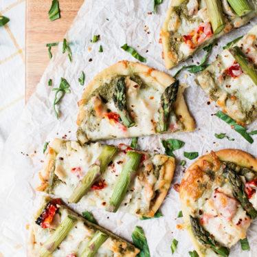 Asparagus & Pea Pesto Flatbread