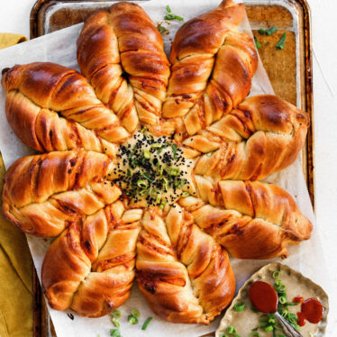 Cheesy Gochujang Star Bread