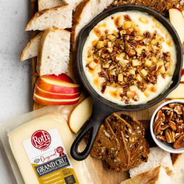 Melty Grand Cru Dip with Sautéed Apples & Pecans