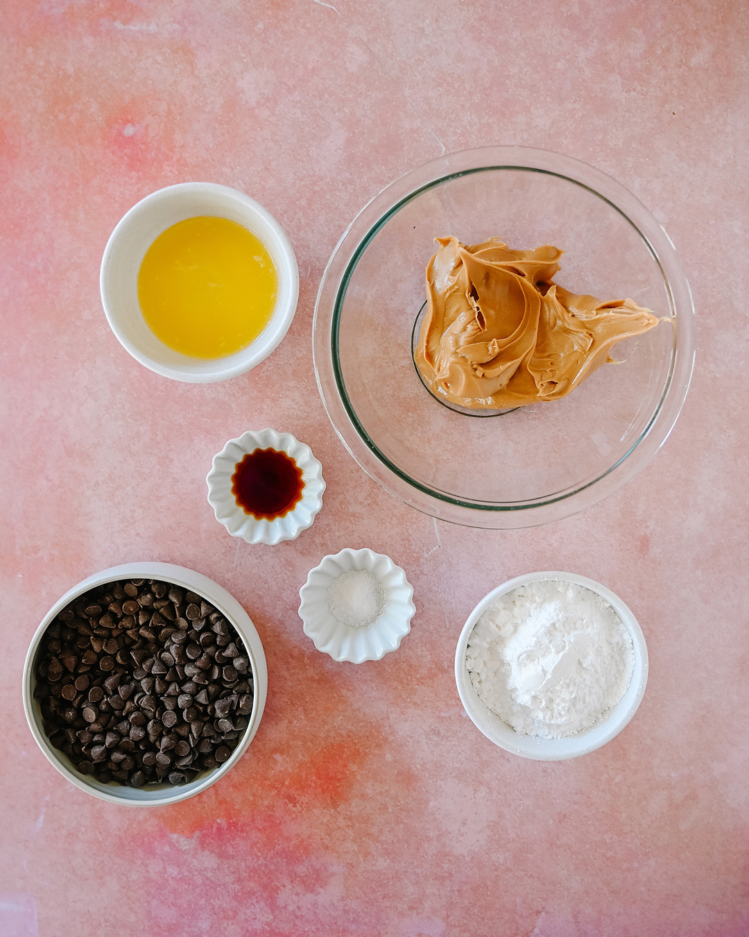 Ingredients for Homemade Peanut Butter Balls
