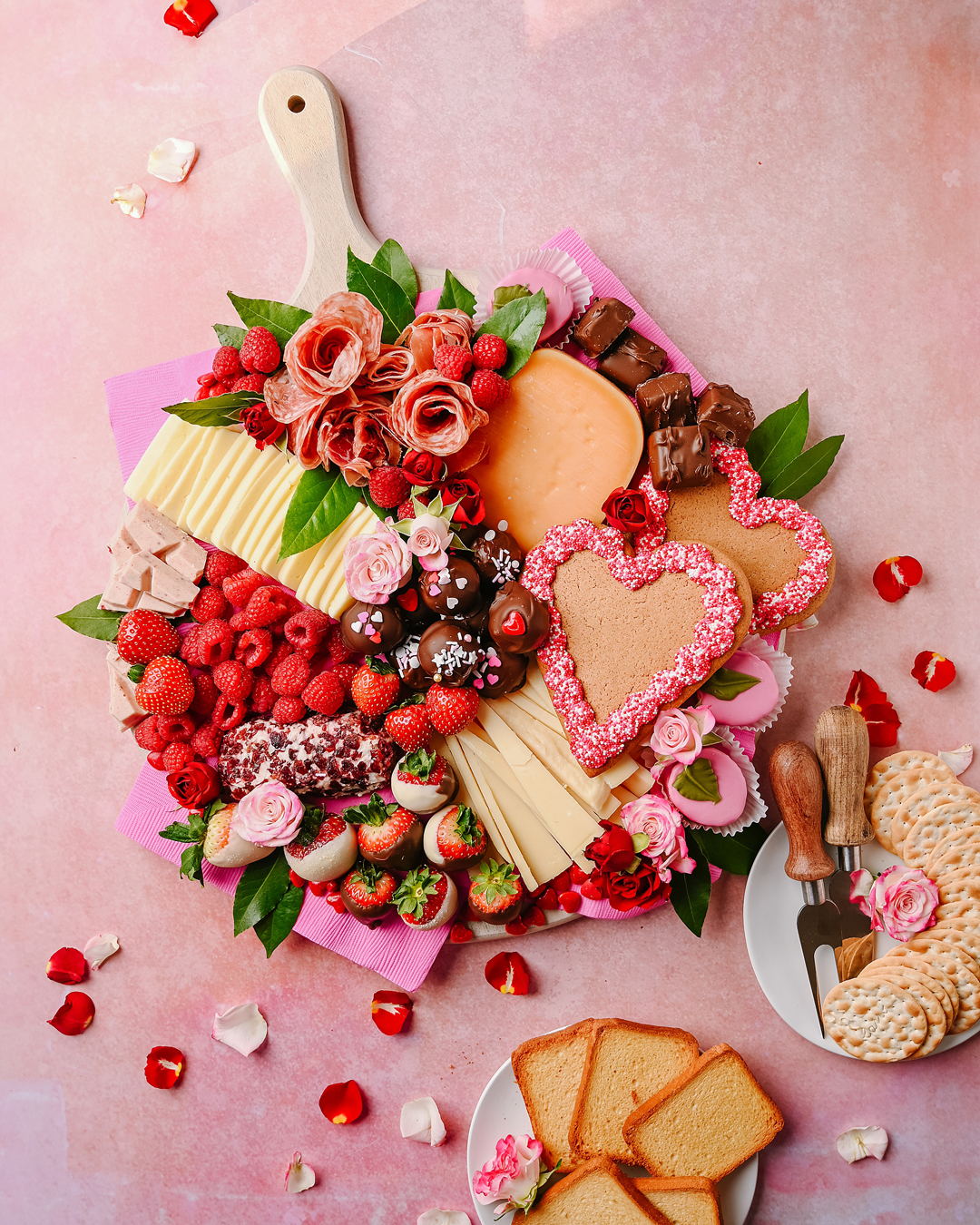 Valentine's Day Cheeseboard with Roth Cheese