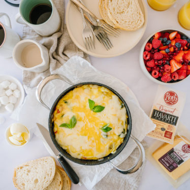 How to Make a Cheesy Frittata