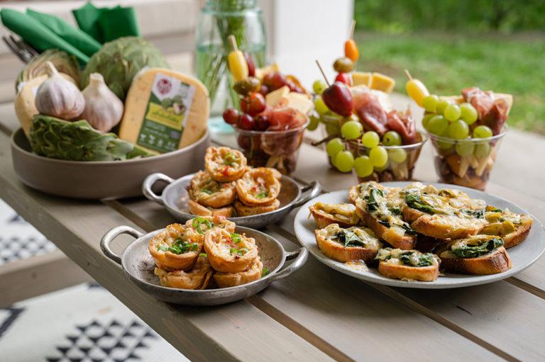 Three Spinach Artichoke Gouda Appetizer Recipes