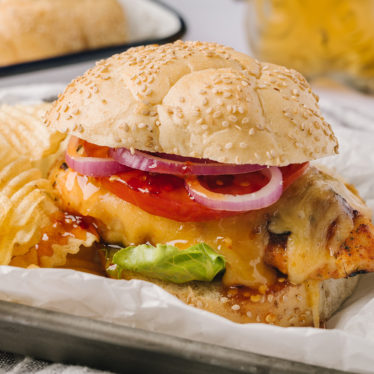 Hot Honey and Gouda Grilled Chicken Sandwich