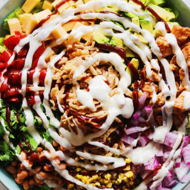 BBQ Chicken Salad with Smoked Gouda